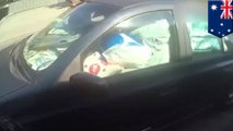 Man fined for driving with a car filled to the brim with trash