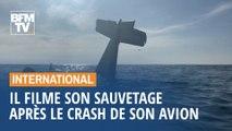 Après le crash de son avion dans l'océan Pacifique, ce jeune pilote filme son sauvetage