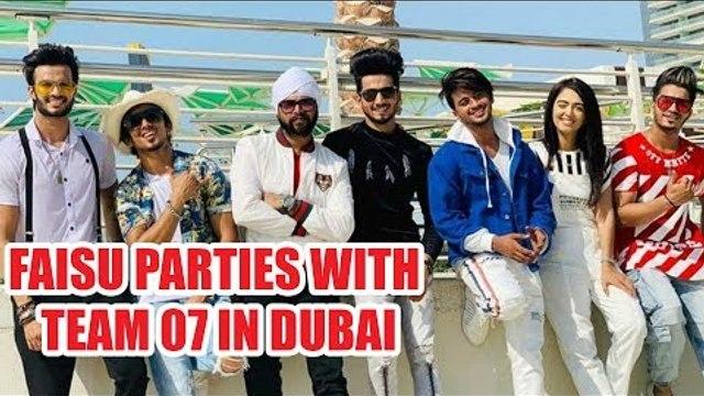 TikTok star Faisu parties with Team 07 in Dubai