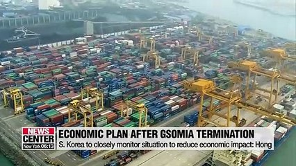 S. Korea's finance minister reveals plans to cope with economic shocks following GSOMIA withdrawal
