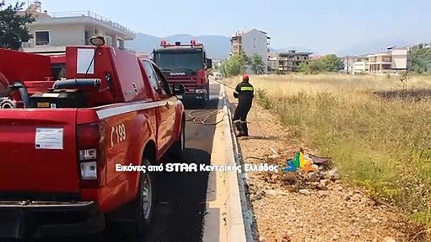 Φωτιά ανάμεσα σε σπίτια στη Λιβαδειά