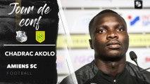 Conférence de presse d'avant Match, Chadrac Akolo  (Amiens SC - FC Nantes)