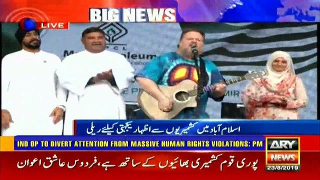 US singer sings 'Dil Dil Pakistan' in solidarity with Kashmir