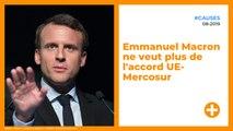 Emmanuel Macron ne veut plus de l'accord UE-Mercosur