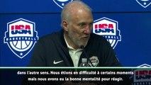 """USA - Popovich """"impressionné"""" par la réaction de son équipe"""