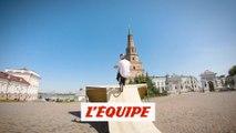le run complètement dingue d'Irek Rizaev dans le kremlin de Kazan - Adrénaline - BMX