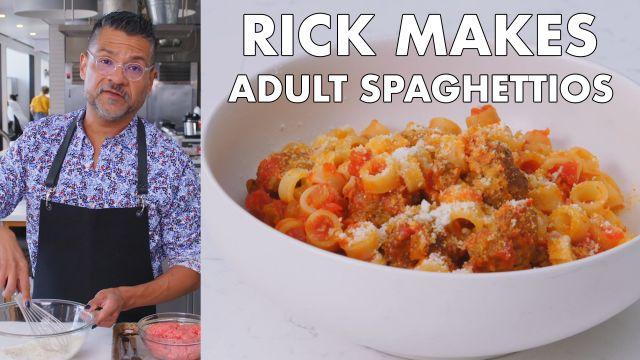 Rick Makes Adult SpaghettiOs