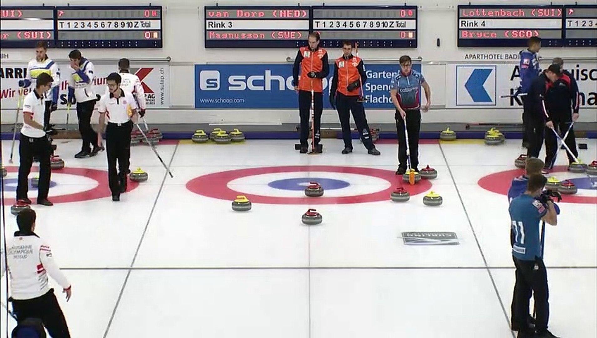 World Curling Tour, Baden Masters 2019, Team Van Dorp (NED) vs Team Magnusson (SWE)