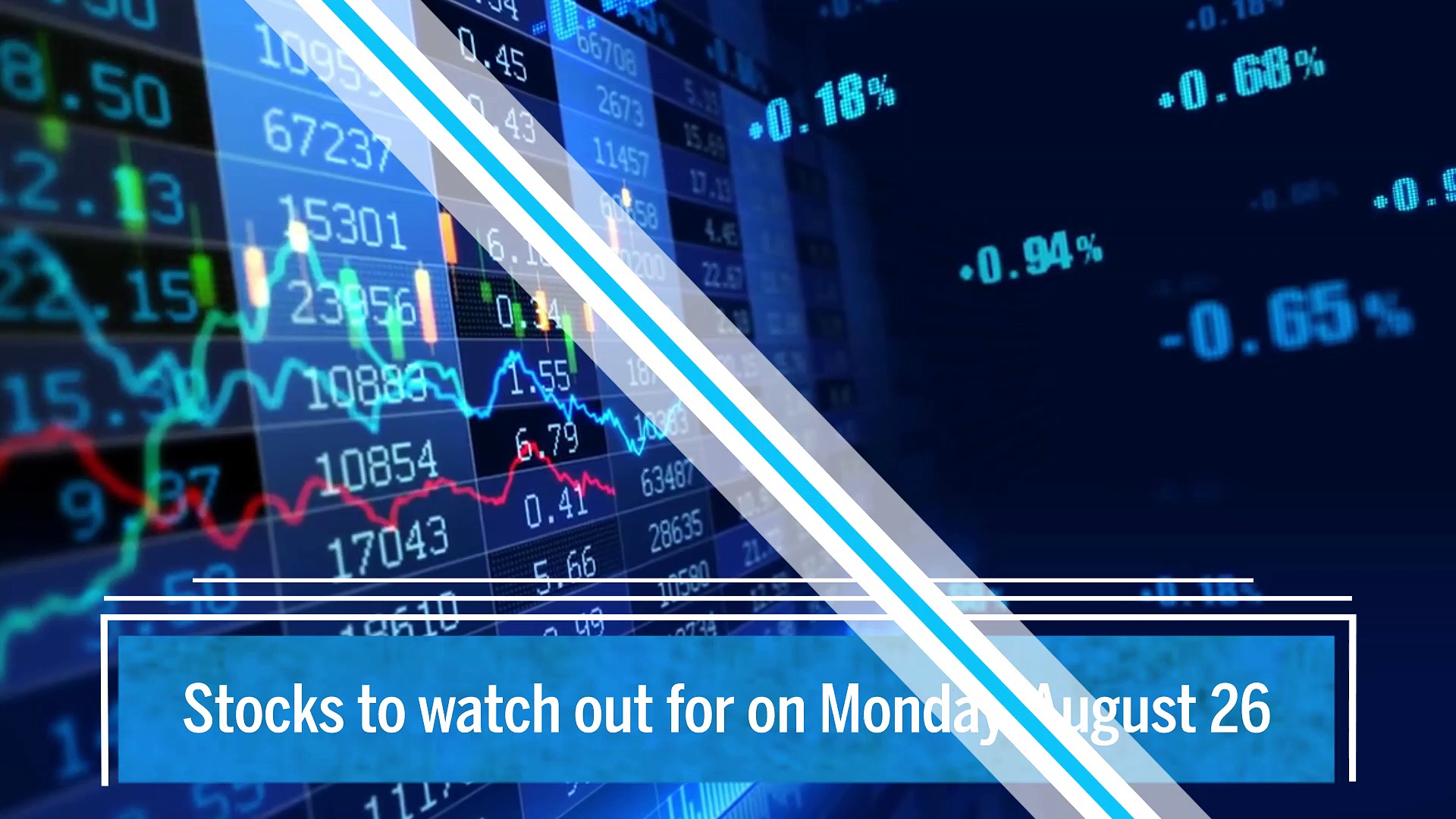 Trade setup for Monday: Keep an eye on these stocks on August 26