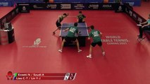 Lin Yun-Ju/Liao Cheng-Ting vs Adam Szudi/Nandor E.   2019 ITTF Czech Open Highlights (1/2)