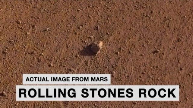 """Spazio, la Nasa chiama una pietra su Marte """"Rolling Stones Rock"""""""