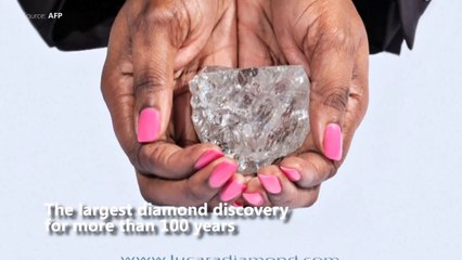 Biggest diamond in more than a century discovered in Botswana
