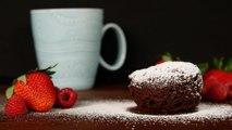 Microwave Flourless Chocolate Mug Cakes