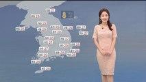 [날씨] 주말 아침 더 선선해…영동 북부 소나기