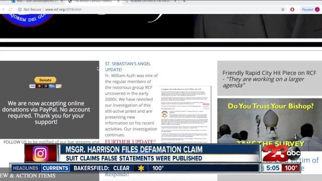 Msgr. Harrison files lawsuit against Roman Catholic Faithful