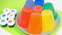 How To Make Colors Cup Jelly Pudding DIY Learn Colors Clay Slime Surprise Toys