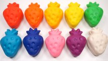 Learn Colors Play Dough Rainbow Strawberry Banana Modeling For Kids Video