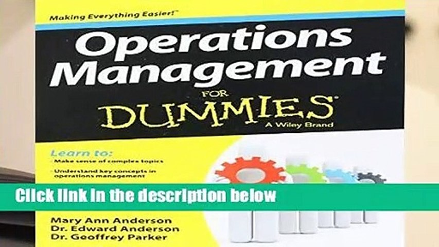 [READ] Operations Management For Dummies
