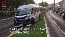 Son DAKİKA: İstanbul'da tramvay yolunda kaza! Seferler durdu
