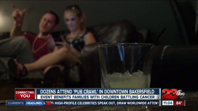 Dozens attend Downtown Bakersfield 'Pub Crawl' for a cause