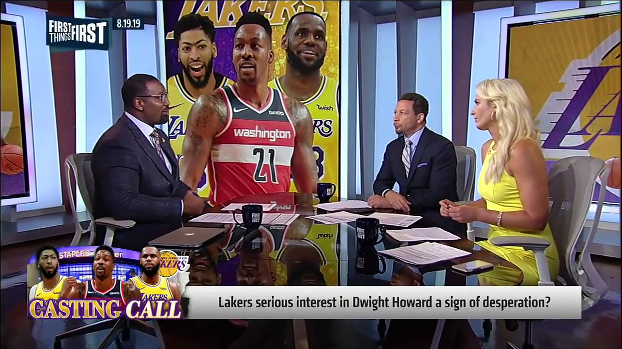 Chris Broussard reacts to reports Lakers have interest in Dwight Howard _ NBA _ FIRST THINGS FIRST