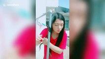 Elle se coiffe sur un tube métallique bouillant au soleil