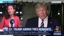 Sommet du G7: Donald Trump arrive très remonté