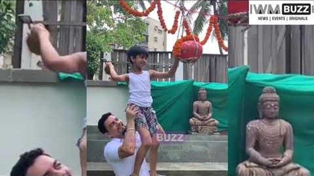 Shilpa Shetty's son Vihaan Kundra breaks the Dahi Handi
