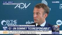 """Sommet du G7: selon Macron, """"on est à un moment de bascule de notre histoire"""""""