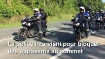 G7: la police intervient pour évacuer des manifestants