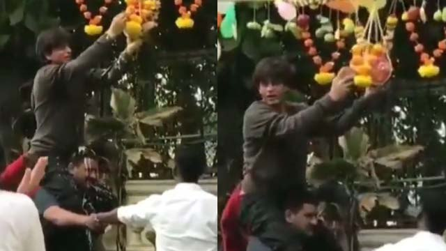 Janmashtami 2019: Shahrukh Khan breaks dahi handi & celebrates the festival; WATCH   FilmiBeat