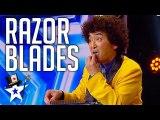 Crazy Magician Is BACK Still Eating Razor Blades on Asia's Got Talent 2019 - Magicians Got Talent