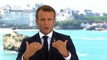 L'allocution d'Emmanuel Macron avant le G7 à Biarritz