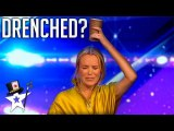 Comedy Magician Tricks Judge on Stage- - Britain's Got Talent - Magicians Got Talent