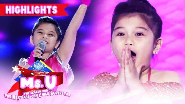 Bella Espinosa is crowned as Mini Miss U of the Day | It's Showtime Mini Miss U