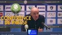 Conférence de presse Havre AC - RC Lens (0-0) : Paul LE GUEN (HAC) - Philippe  MONTANIER (RCL) - 2019/2020