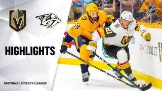 Nashville Predators vs. Vegas Golden Knights - Game Highlights