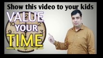 Show This to Your Kids|Time is your precious gift|Time is money|Time is precious|Small speech on time|Hindi|English subtitle
