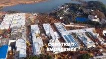 Coronavirus: un timelapse montre la très rapide construction d'un hôpital en dix jours