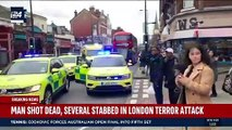 Breaking news- police shoot dead a terrorist in Streatham, South London after people are stabbed.