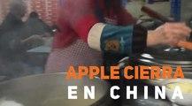 Apple cierra en China