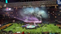 Halftime stage set up for Super Bowl LIV: Chiefs vs. 49ers