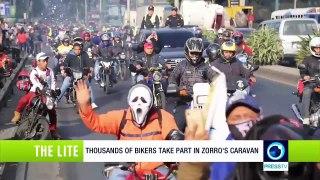 Thousands of bikers take part in Zorro's caravan