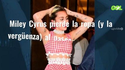 Miley Cyrus pierde la ropa (y la vergüenza) al pasearse así en un carrito de golf