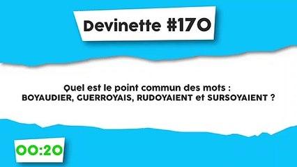 Devinette #170 : Le point commun