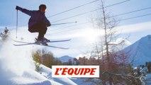 Kevin Rolland à La Plagne - Adrénaline - Ski freeride