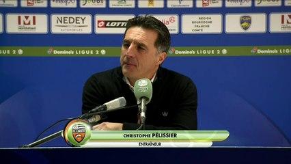 La réaction de Christophe Pelissier après Sochaux - FC Lorient (0-4) 19-20