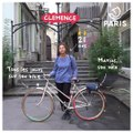 Portraits de cyclistes parisien.ne.s à vélo : Clémence