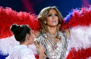 Jennifer Lopez joined by daughter at Super Bowl
