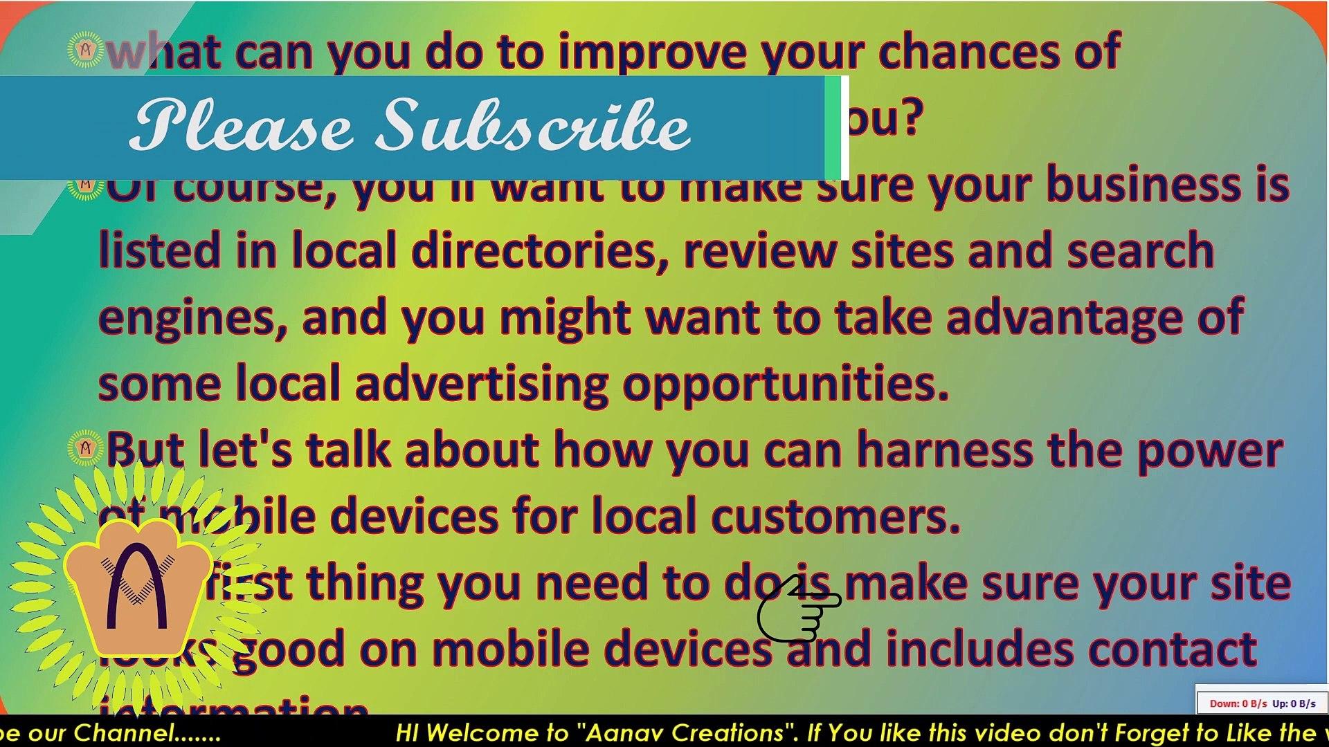 Reaching Locals On their Mobiles In Digital Marketing | Local People tak |  @Aanav Creations